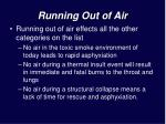 running out of air