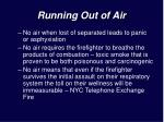 running out of air7