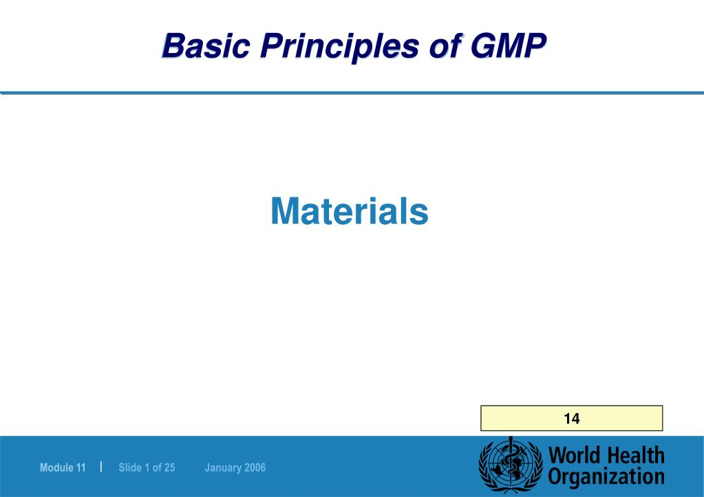basic principles of gmp l.