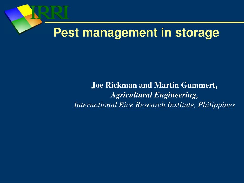 pest management in storage l.