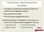 commercial noncommercial licensing