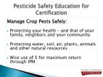 pesticide safety education for certification