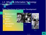 1 4 where is information technology headed three directions of computer development