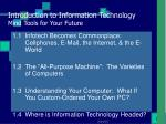 introduction to information technology mind tools for your future