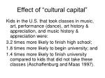 effect of cultural capital