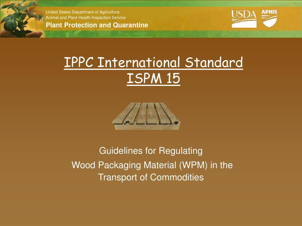 ippc international standard ispm 15 l.