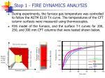 step 1 fire dynamics analysis33