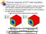 thermal response of cft with insulation