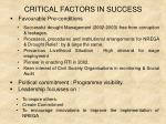 critical factors in success