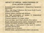 impact of nrega main findings of evaluation studies