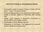 institutions organisations