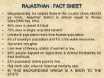 rajasthan fact sheet