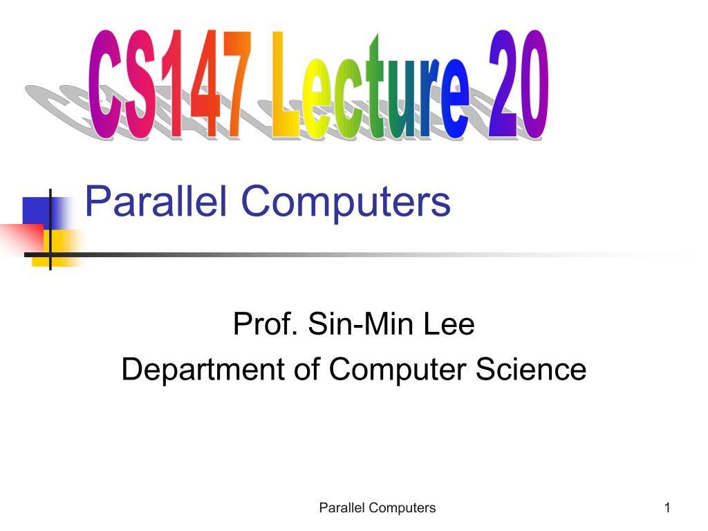 parallel computers l.