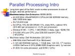 parallel processing intro