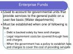 enterprise funds