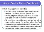 internal service funds concluded