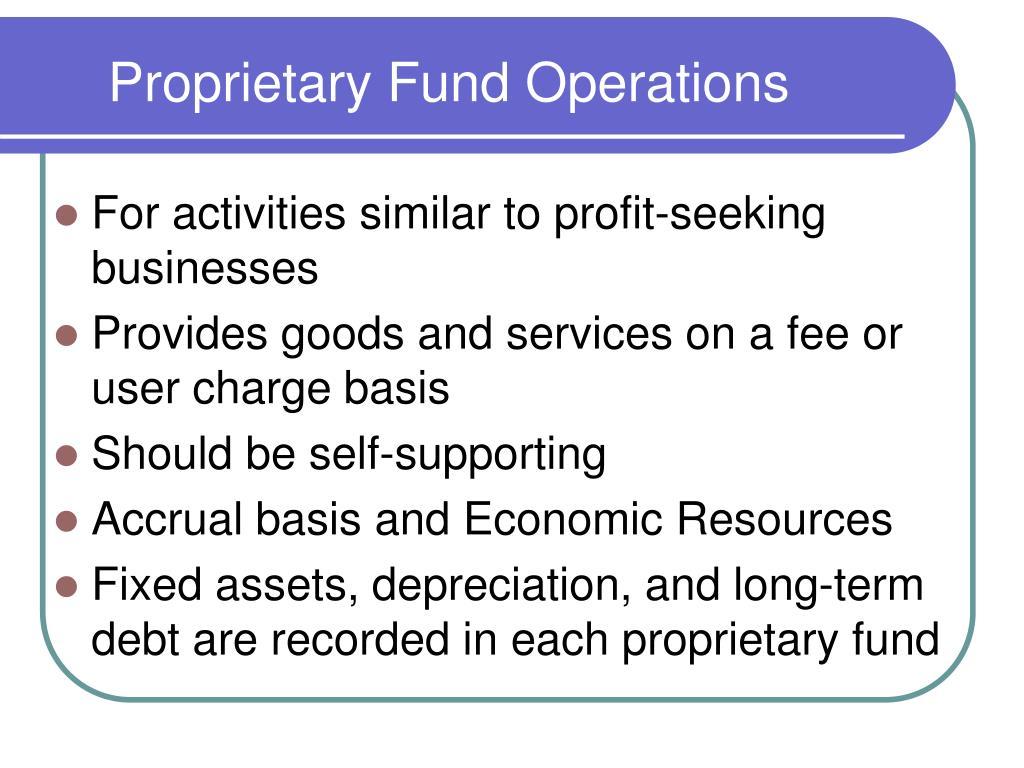 proprietary fund operations l.