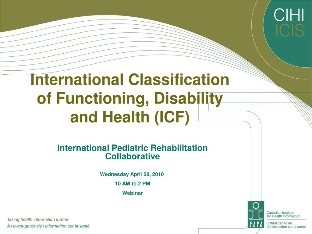 international classification of functioning disability and health icf l.