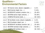 qualifiers environmental factors