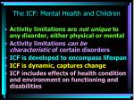 the icf mental health and children