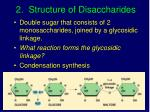 2 structure of disaccharides