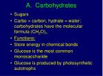 a carbohydrates