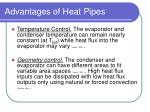 advantages of heat pipes5
