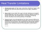 heat transfer limitations