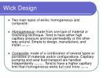 wick design