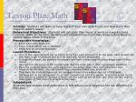 lesson plan math