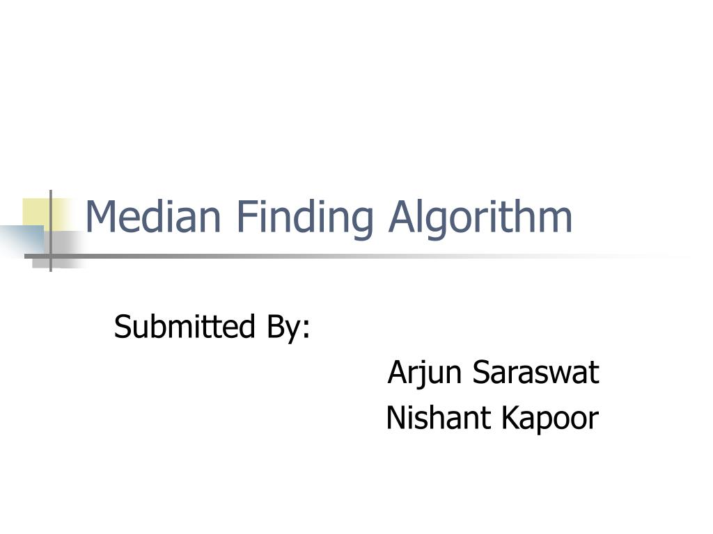 median finding algorithm l.