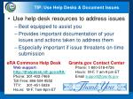 tip use help desks document issues