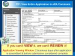 tip view entire application in era commons