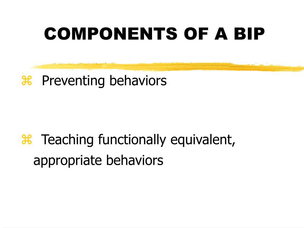components of a bip l.