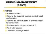 crisis management cont