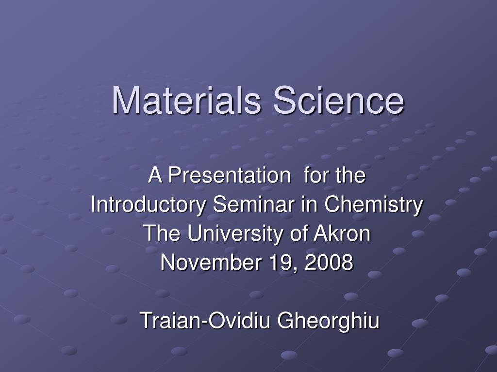 materials science l.