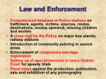 law and enforcement