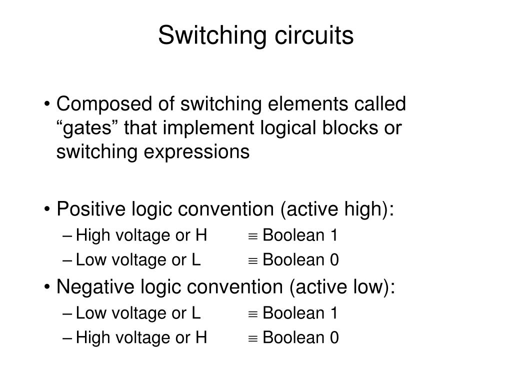 switching circuits l.