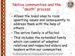 native communities and the death process21