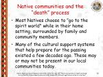 native communities and the death process22