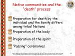 native communities and the death process23