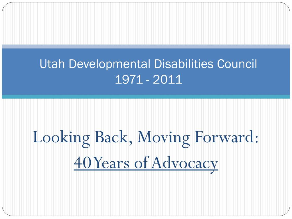utah developmental disabilities council 1971 2011 l.