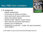 new mbs item numbers