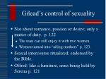 gilead s control of sexuality