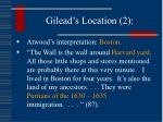gilead s location 2