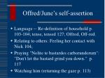 offred june s self assertion