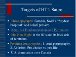 targets of ht s satire