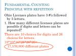 fundamental counting principle with repetition