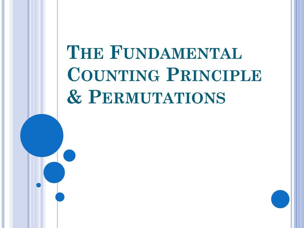 the fundamental counting principle permutations l.