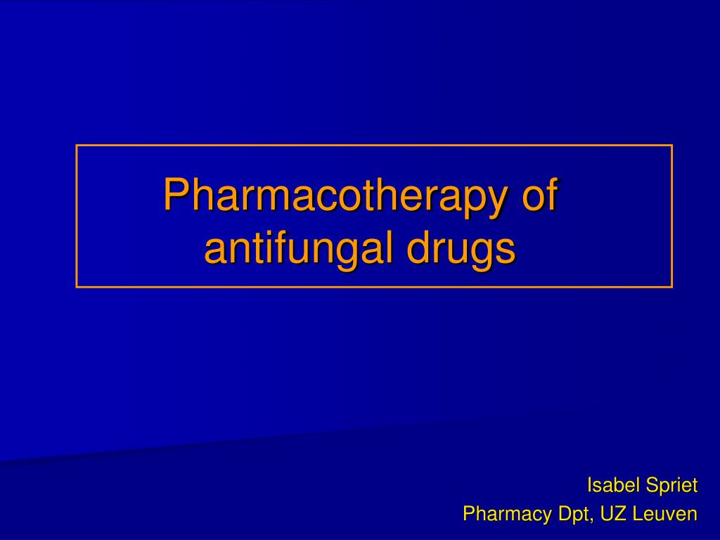 pharmacotherapy of antifungal drugs l.